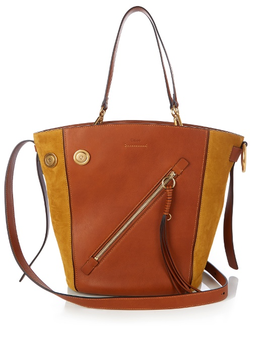 Chloé Leathers MYER MEDIUM LEATHER AND SUEDE TOTE