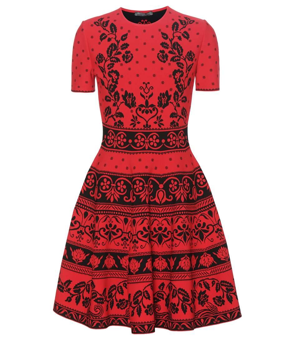 Alexander Mcqueen Knits Jacquard-knit dress