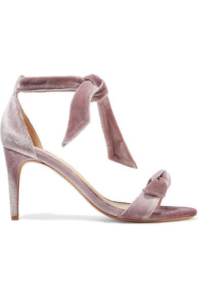 Clarita bow-embellished velvet sandals