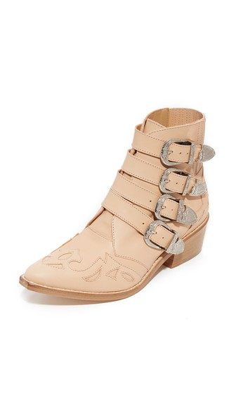 PULLA TEXAN IN PALE PINK LEATHER