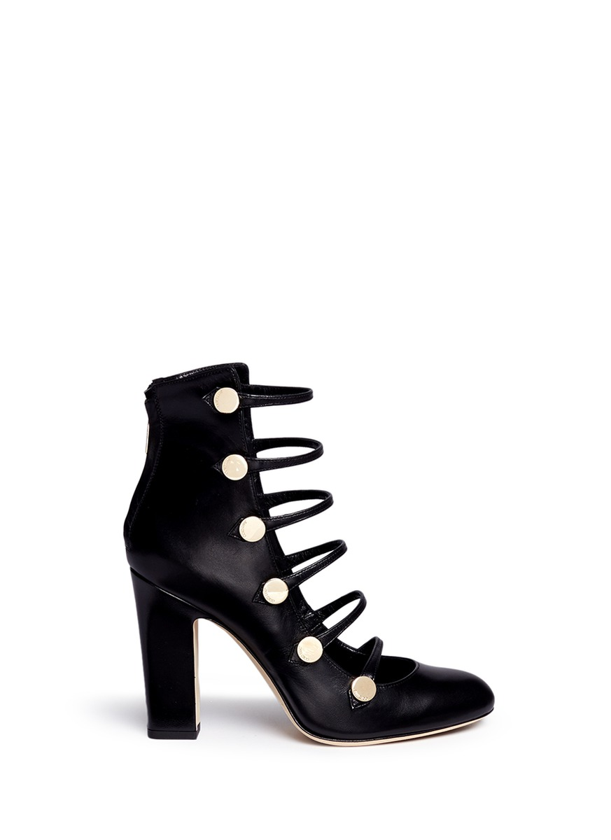 Jimmy Choo Leathers 'Venice' button caged leather boots