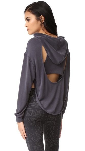 Free People Movement Back Into It Hoodie, Black