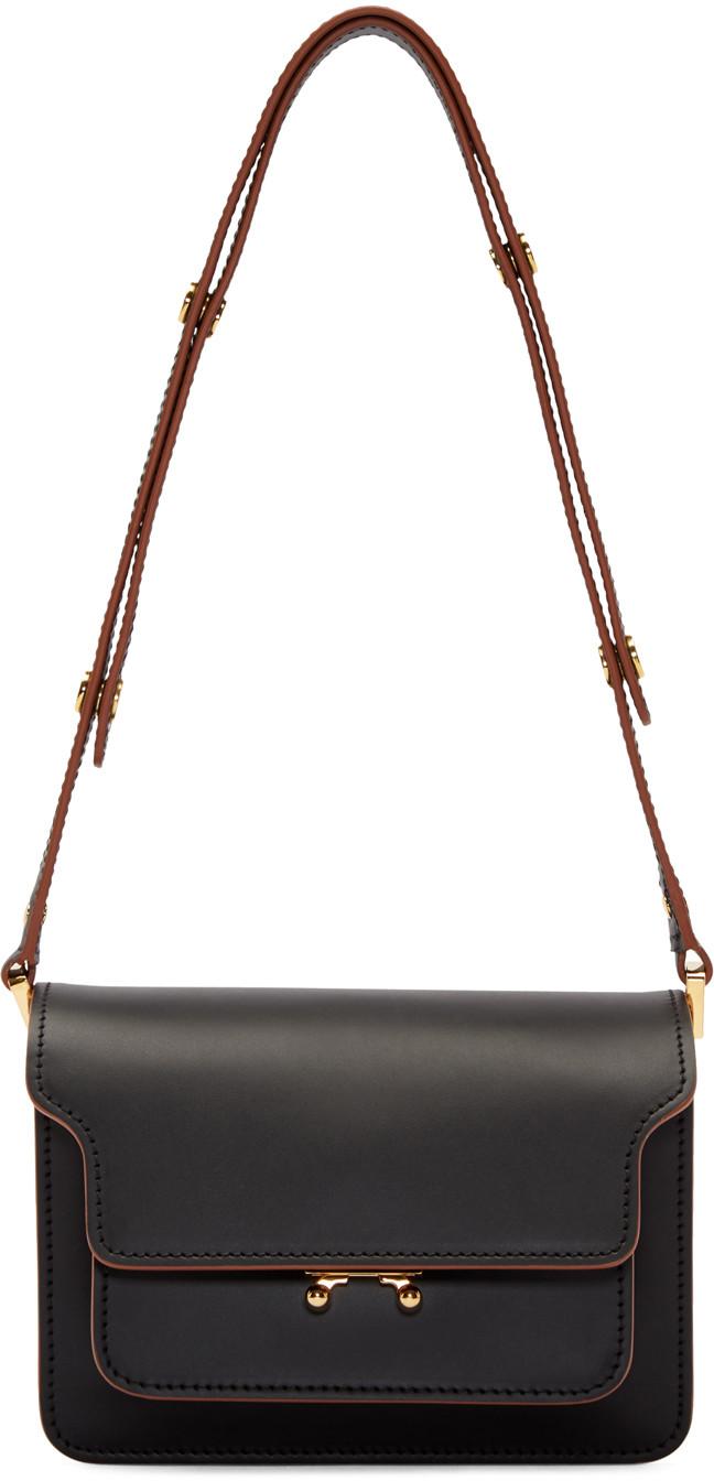 MARNI BLACK SMALL TRUNK BAG