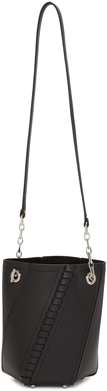 Proenza Schouler Leathers Black Hex Bucket Bag