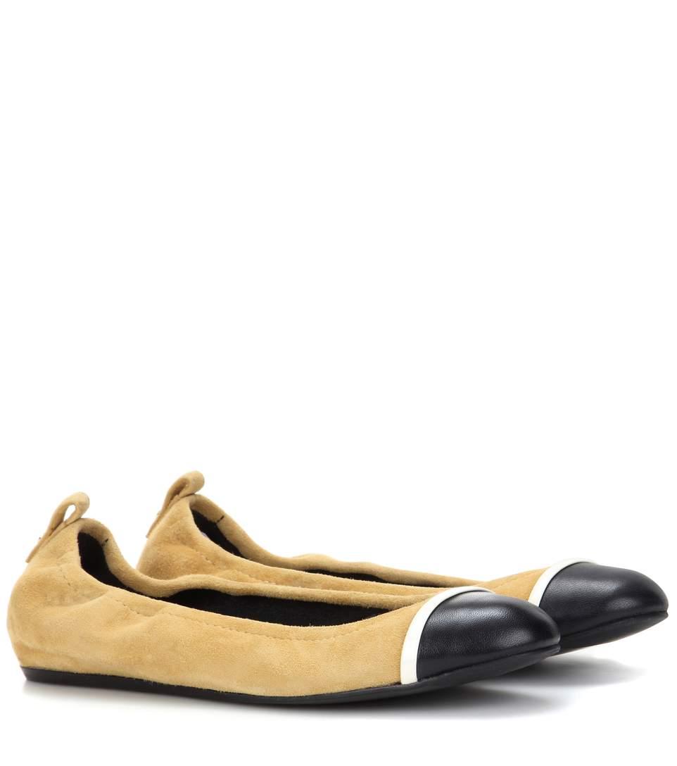 Lanvin Suedes Suede and leather ballerinas