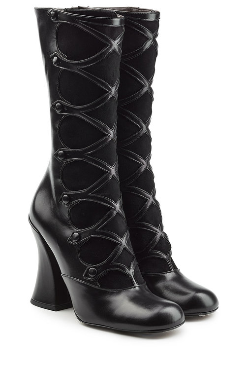 Marc Jacobs Leathers Leather and Suede Knee Boots
