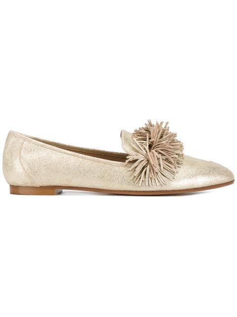 Gold Wild Leather loafers