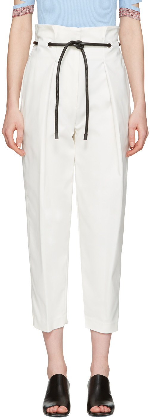 ORIGAMI COTTON-BLEND TROUSERS