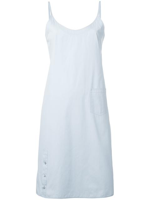 Cotton Sleeveless Wrap Cotton Shift Dress