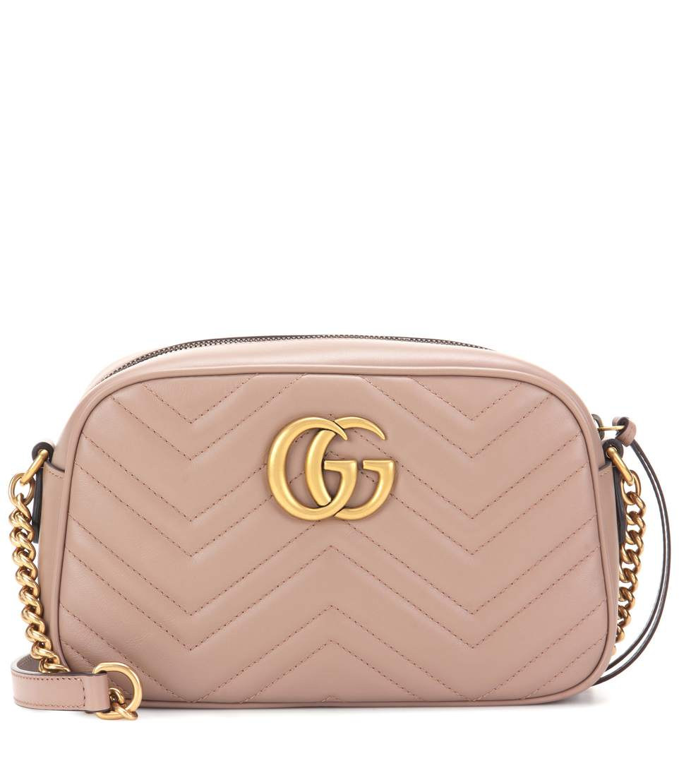 GG MARMONT MINI MATELASSÉ LEATHER CROSSBODY BAG