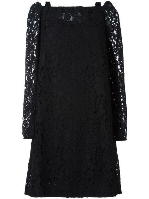 See By Chloé Cottons CUT OUT SHOULDER LACE DRESS