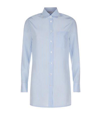 Valentino Silks Striped Open Back Shirt