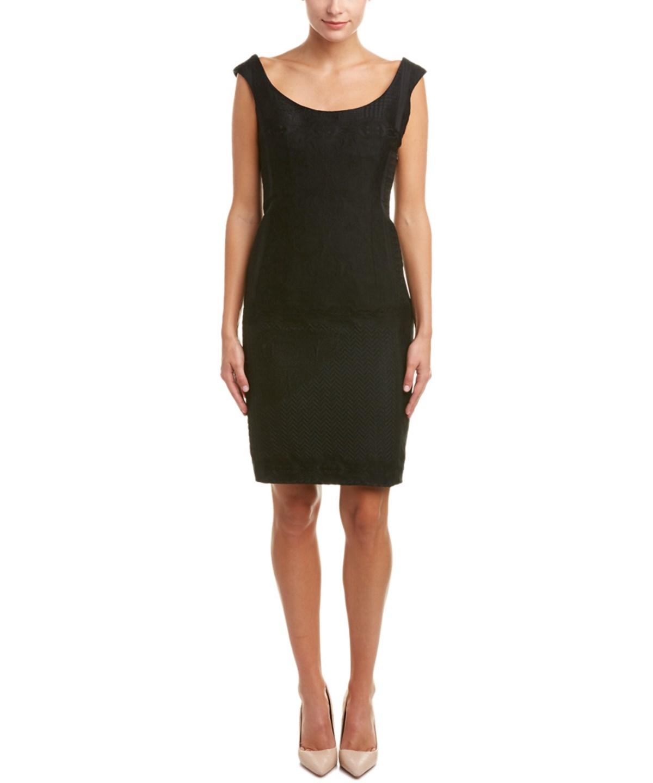 ESCADA WOOL & SILK-BLEND SHEATH DRESS