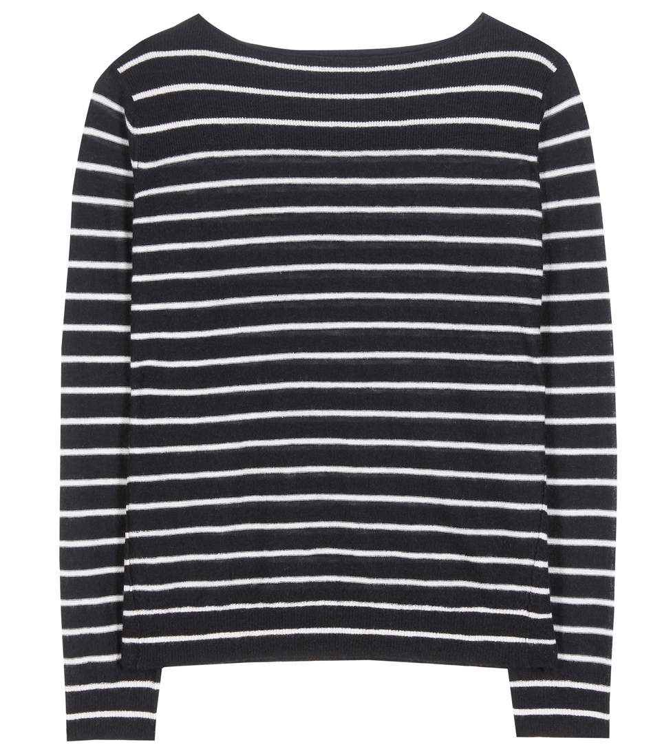 Vince Cashmeres Striped cashmere sweater