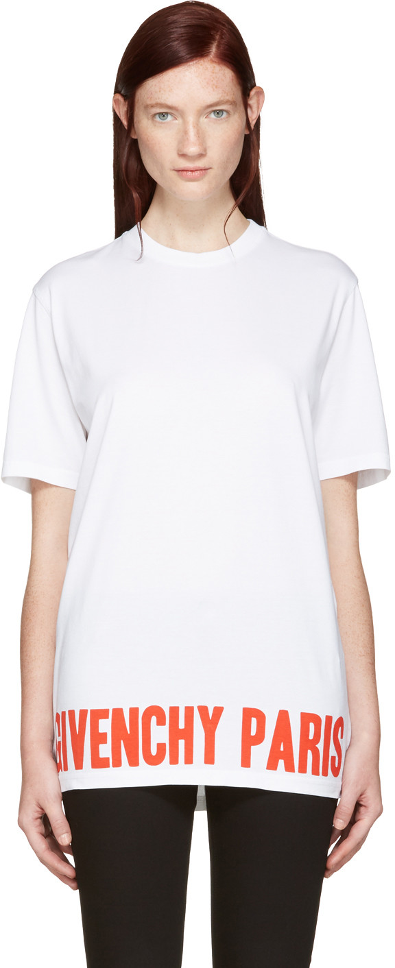 Givenchy Cottons WHITE LOGO T-SHIRT