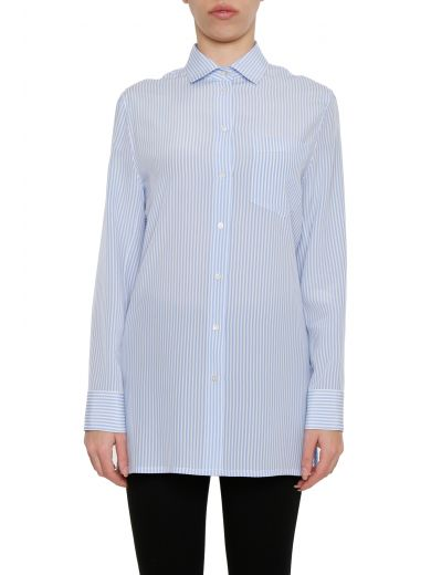 Valentino Silks Striped Silk Shirt
