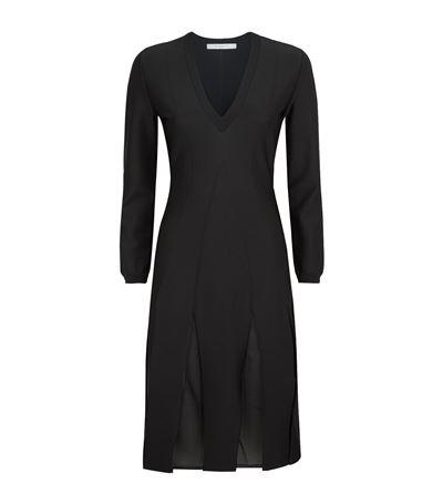 Givenchy Dresses Pleated V-Neck Dress