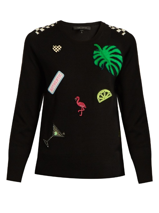 Marc Jacobs Wools Patch-appliqué wool sweater