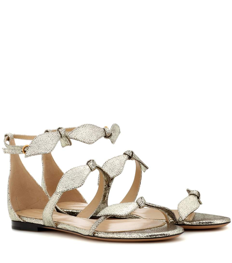 Chloé Leathers Mike metallic leather sandals
