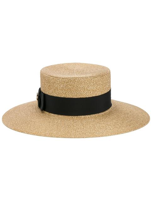 Women's Alba Lurex Papier Hat in Gold