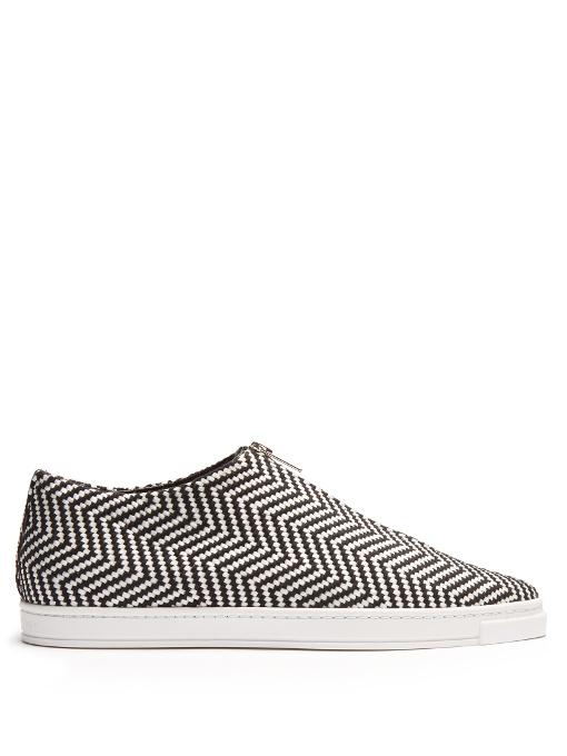 Sligo Zigzag Zip-Front Sneakers