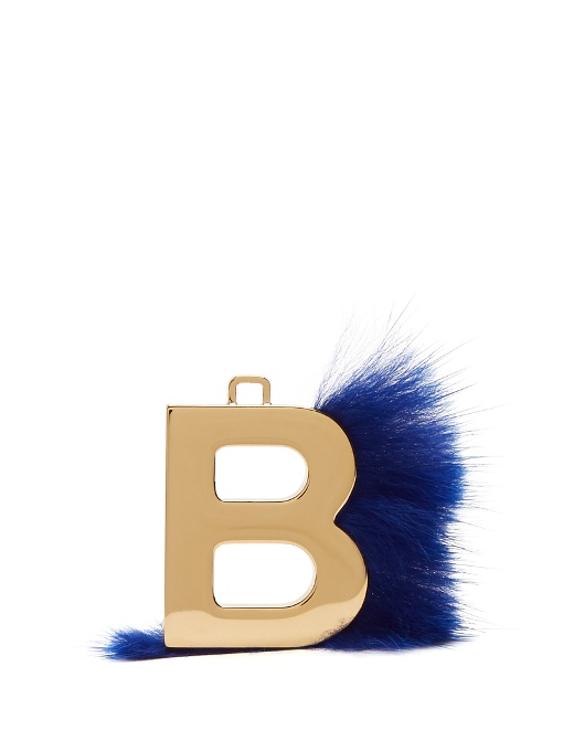 Fendi abclick letter e mink charm for handbag multi gold modesens available from mozeypictures Images