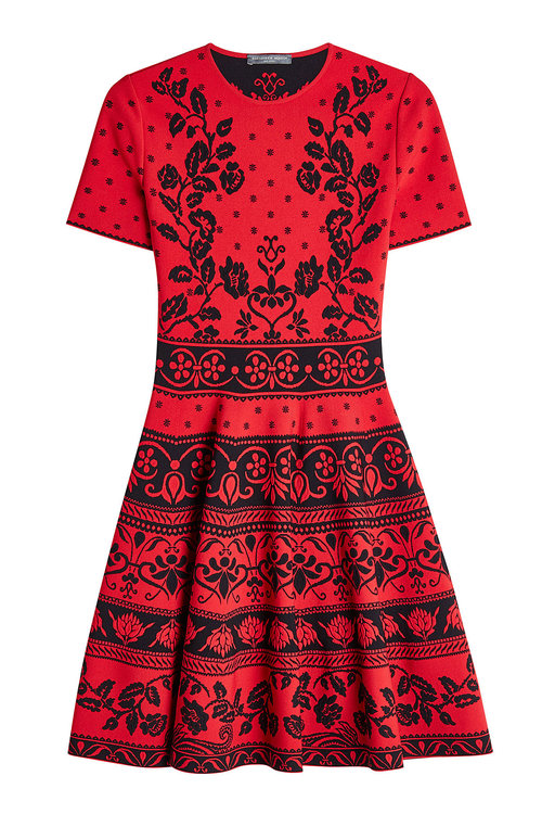 Alexander Mcqueen Knits Flared Dress