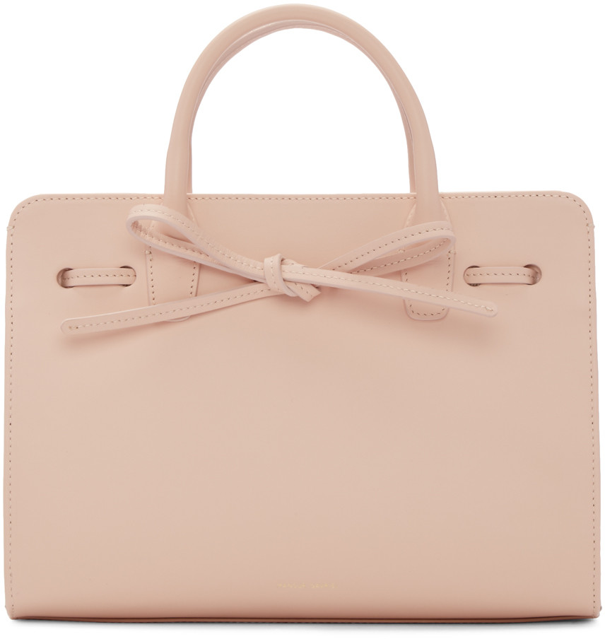 Pink Leather Mini Mini Sun Tote