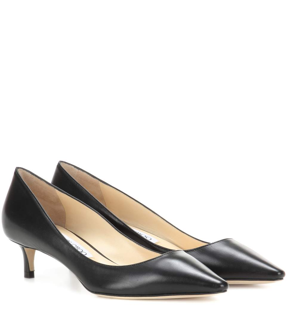 ROMY 40 LEATHER PUMPS