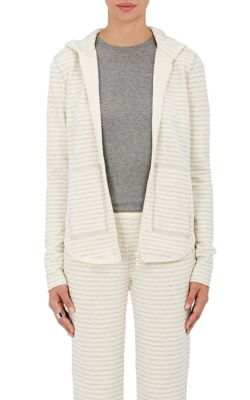 Atm Anthony Thomas Melillo Cottons Striped Cotton-Blend Hoodie