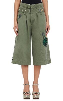 Marc Jacobs Militarys Embellished Chino Gaucho Pants