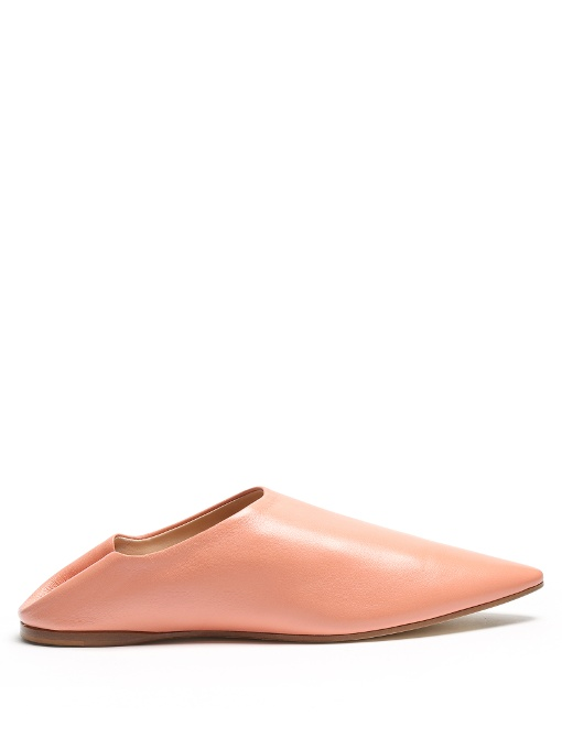Acne Studios Leathers Amina backless leather slipper shoes