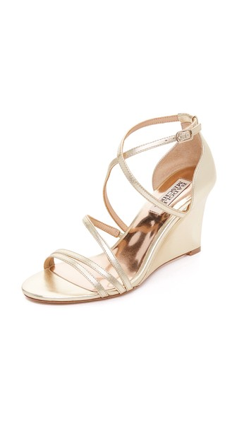 BONANZA STRAPPY WEDGE EVENING SANDALS WOMEN'S SHOES