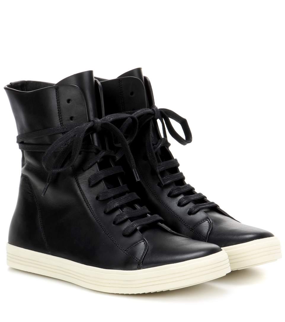rick owens black mastodon high top sneakers in llack modesens. Black Bedroom Furniture Sets. Home Design Ideas