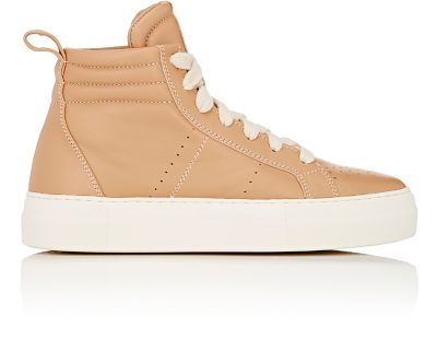 Leather High-Top Platform Sneakers