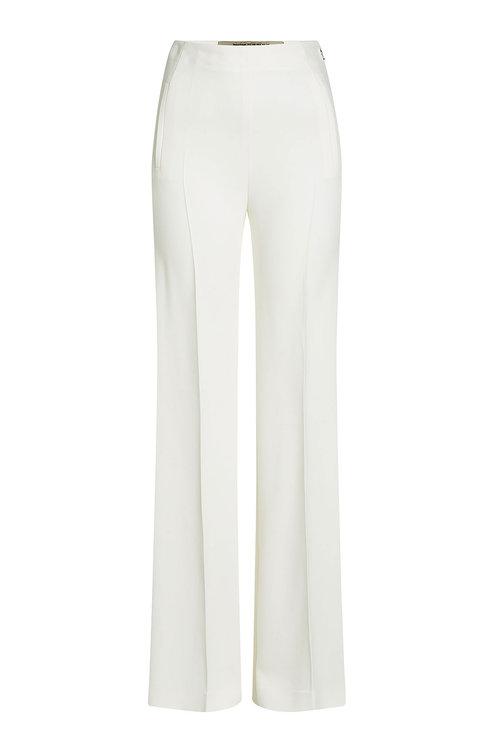 HIGH-WAIST WIDE-LEG PANTS, WHITE