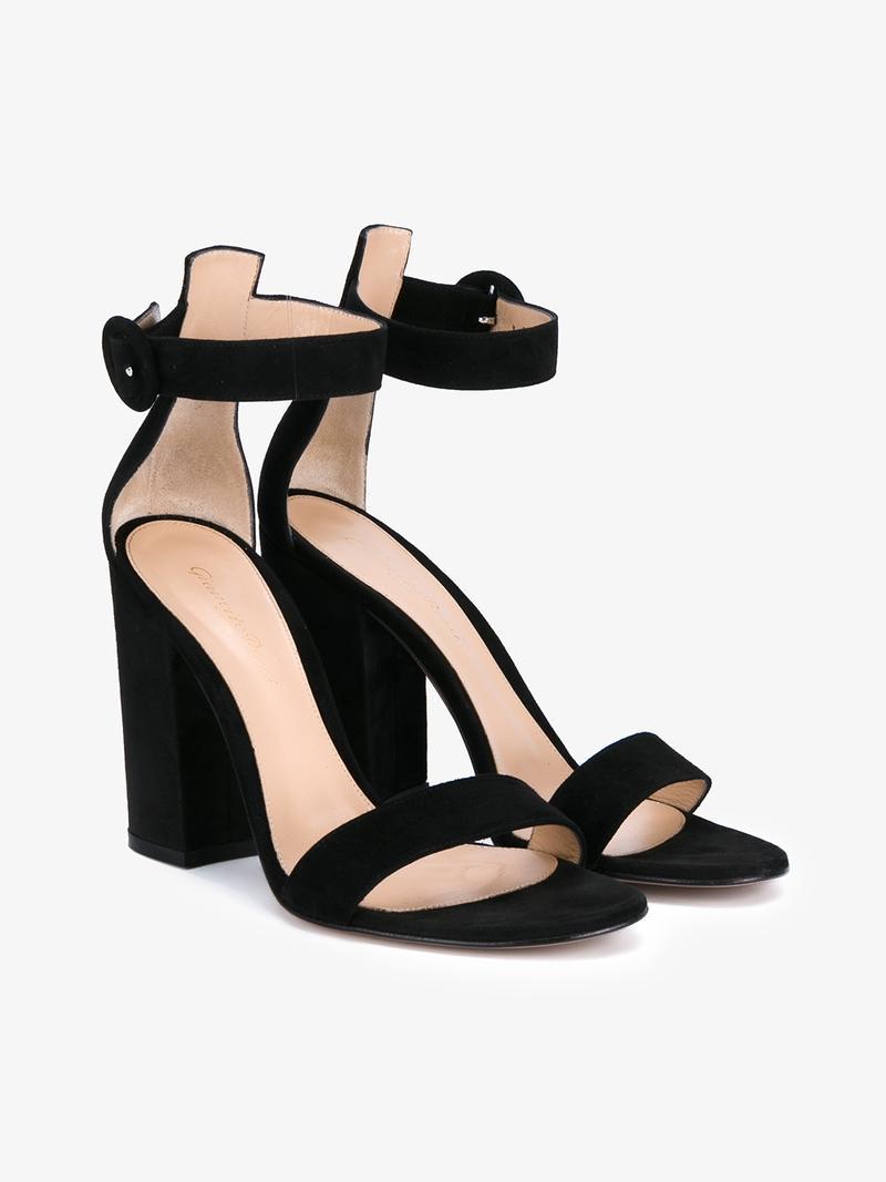 Gianvito Rossi Block-Heel Suede Sandals pick a best sale online BmKBVsEK