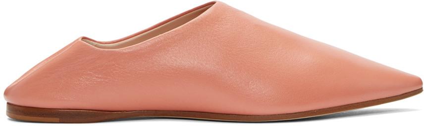 Acne Studios Leathers Pink Amina Flats