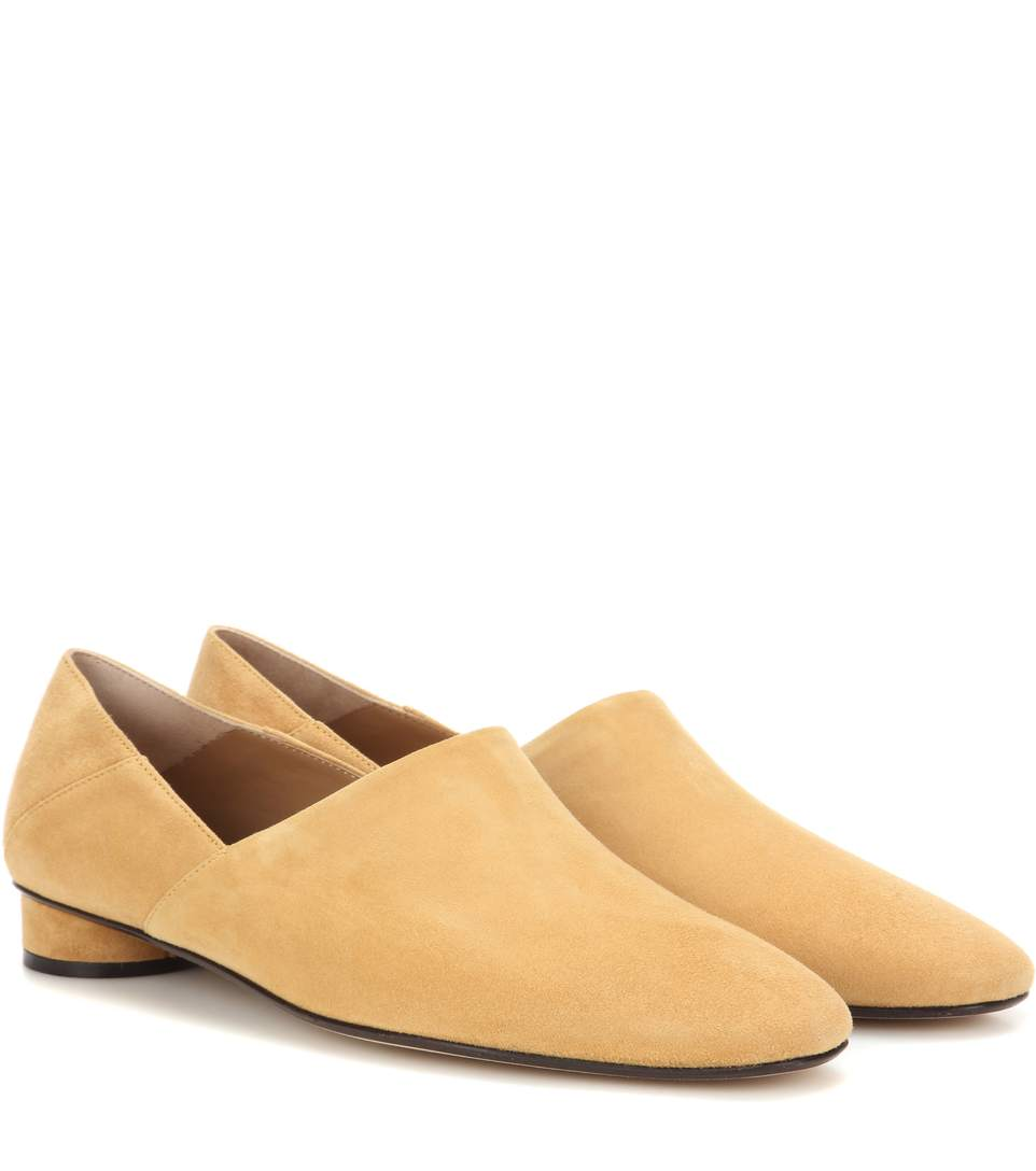 The Row Suedes NOELLE SUEDE SLIPPERS