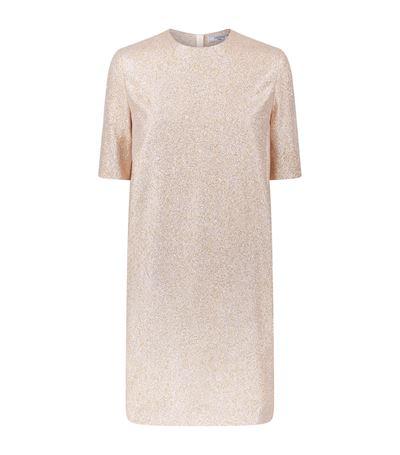Lanvin Silks Glitter Shift Dress