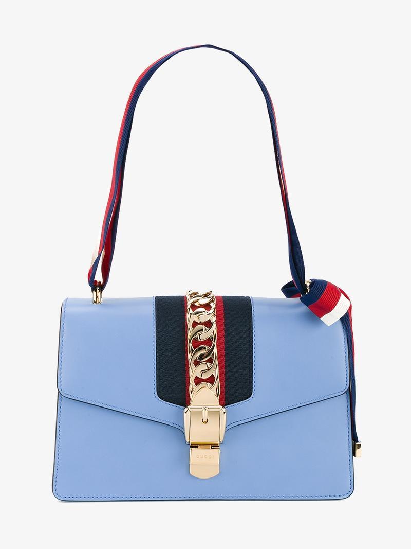 'Sylvie' light blue shoulder bag