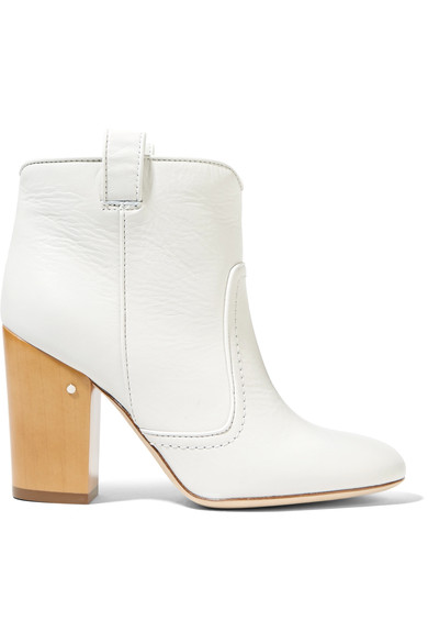 WOMAN PETE EMBROIDERED VELVET ANKLE BOOTS WHITE