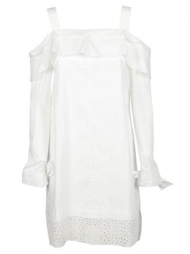 Proenza Schouler Cottons Proenza Schouler Off Shoulder Dress