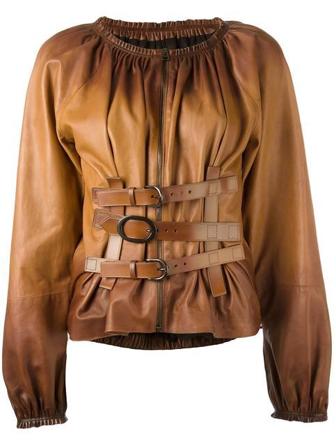 buckle detailing zipped shirt