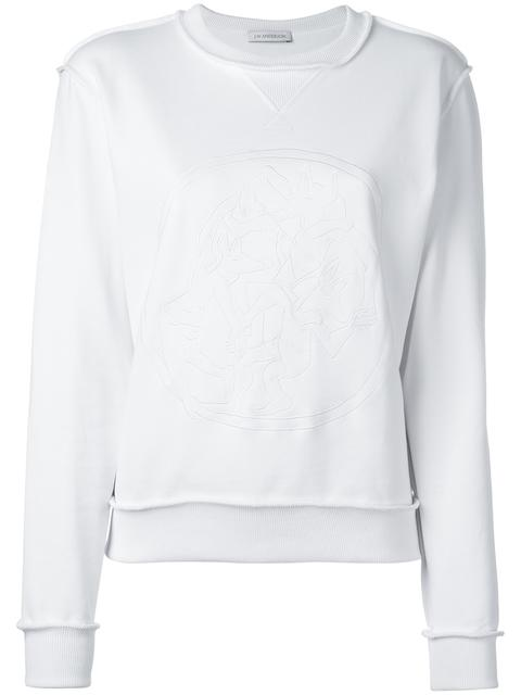 JW ANDERSON WOMEN'S WHITE WOLVES SWEATSHIRT