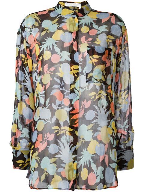 Chloé Silks fruit print blouse