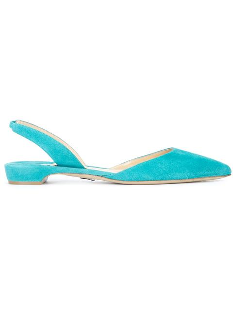 sling-back pointed ballerinas