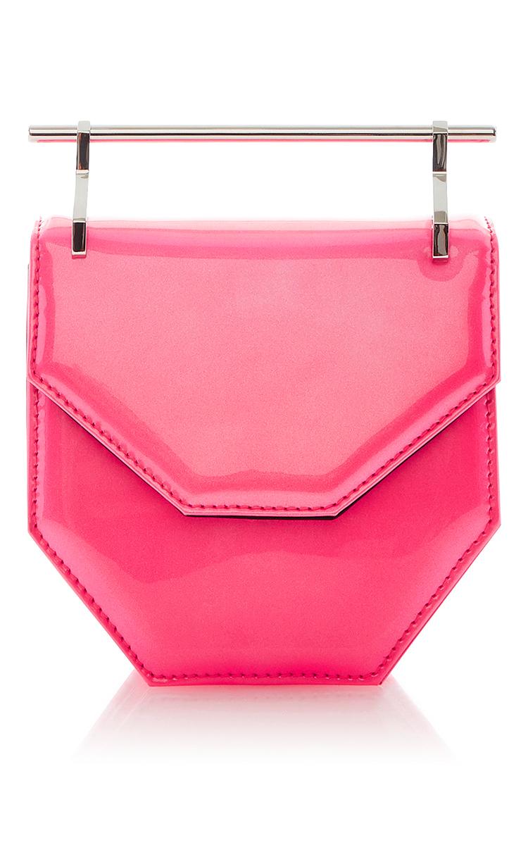 M2MALLETIER Amor Fati Neon Pink Patent Leather Mini Shoulder Bag