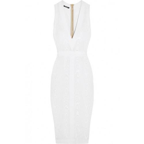 Balmain Midi dresses Knitted-jacquard dress