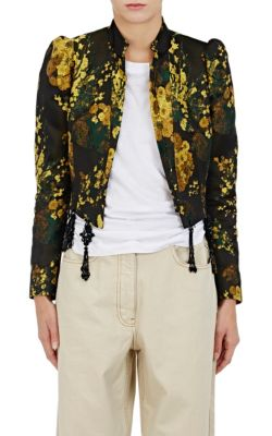 Bach Puff-Shoulder Crop Jacket